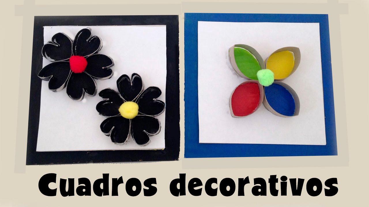 Cuadros decorativos de cart n manualidades de reciclaje - Manualidades faciles cuadros ...