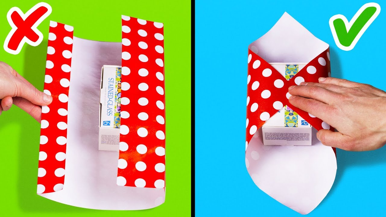 25 EASY GIFT WRAPPING IDEAS AND HACKS - YouTube