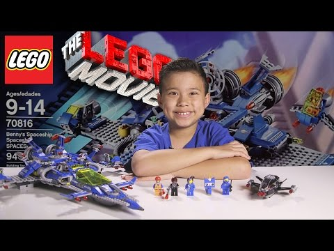 BENNY'S SPACESHIP, SPACESHIP, SPACESHIP! -  LEGO MOVIE Set 70816 - Time-lapse, Unboxing & Review!