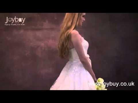 a-line-strapless-ruffles-organza-princess-wedding-dress-with-sash