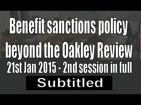 2nd session - Benefit sanctions beyond Oakley Review (subtit