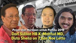 Sultan HB X, Mahfud MD, Duta So7, dan Noe Letto Bicara Hari Coblosan