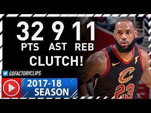 LeBron James CLUTCH Full Highlights vs Kings (2017.12.06) - 32 Pts, 9 Ast, 11 Reb, CRAZY!