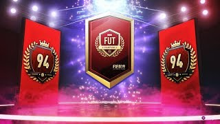 TOP 100 FUT CHAMPIONS REWARDS + MONTHLY PLAYER PICK PACKS!! FIFA 19 Ultimate Team