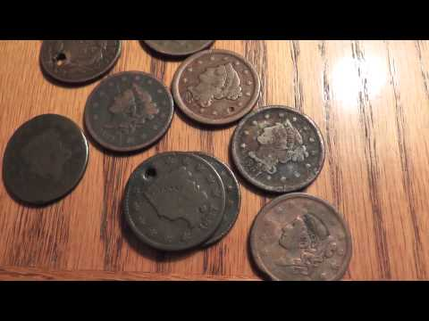 old coin haul u.s. large cents 19th century rare ebay coins