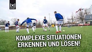 Fußballübung zur Handlungsschnelligkeit - Das doppelte Umschalten [ÜBUNG]