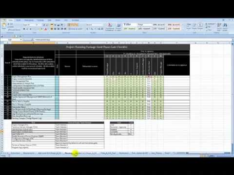 Project Phase Gate Review Excel Fill In Template4 Youtube