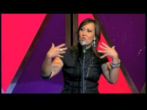 Female asian stand up comedian