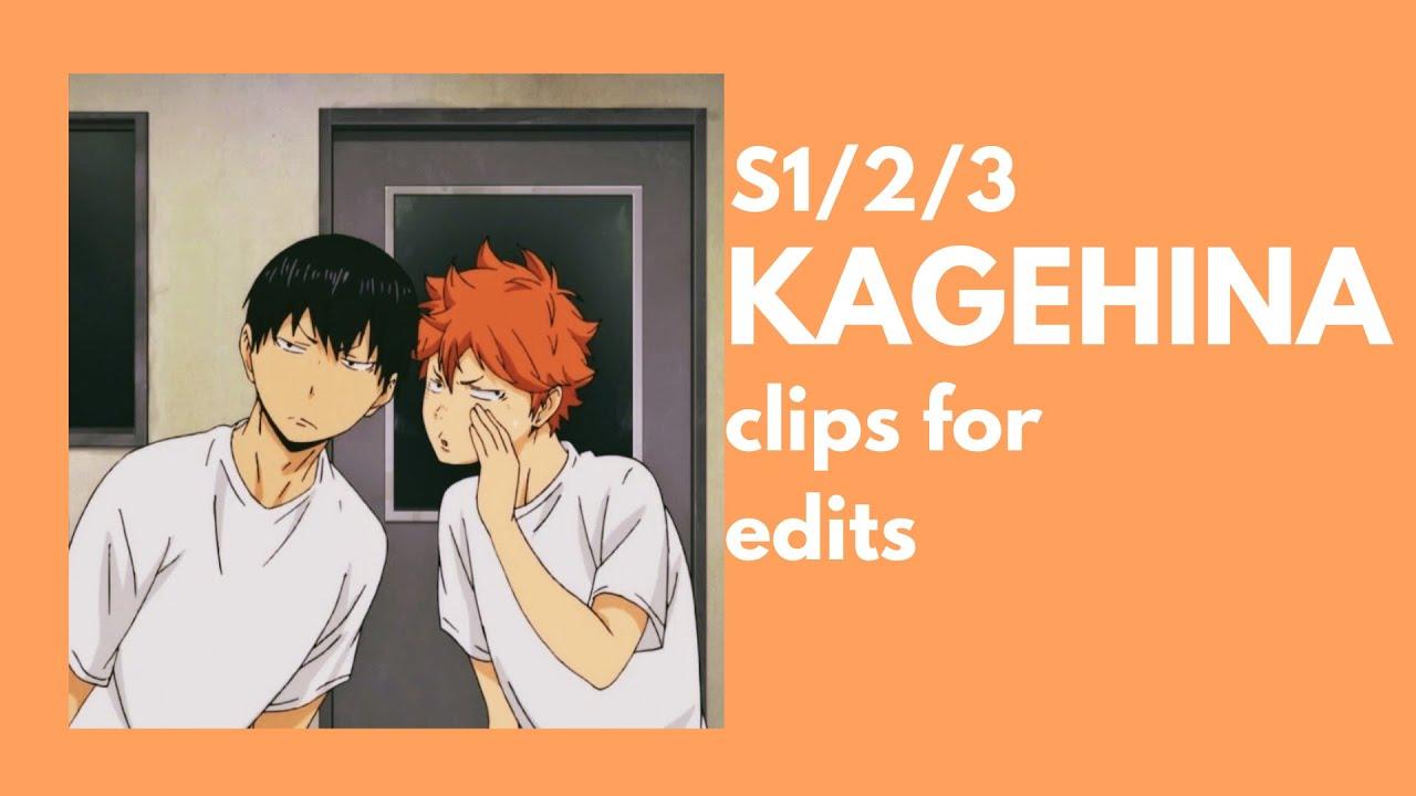 [haikyuu!!] KAGEHINA clips for edits