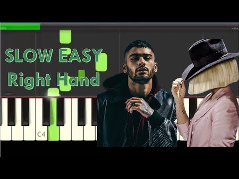 How to Play Dusk Till Dawn by Zayn ft. Sia on Piano - Right Hand, Slow, Easy Tutorial