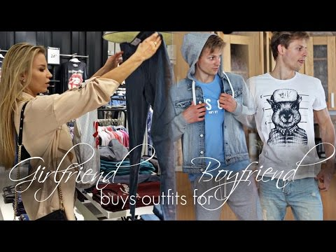 Девушка покупает одежду Парню! /Girlfriend Buys Outfits For Boyfriend!