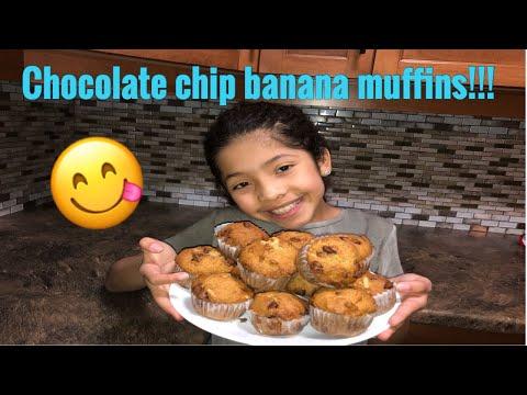 How to make banana chocolate chip muffins!!
