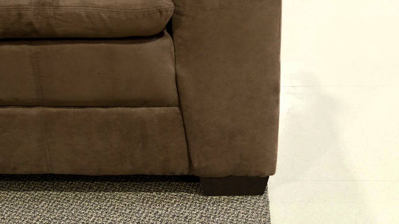 United Furniture Luna Chocolate Sofa Youtube