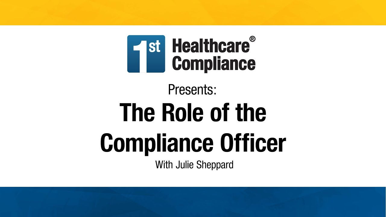 The role of the compliance officer youtube - Compliance officer certification programs ...