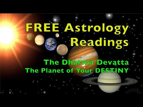 FREE ASTROLOGY READINGS - The Dharma Devatta - The Planet of YOUR DESTINY - Vedic Astrology
