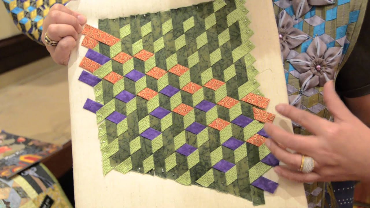 Rami Kim shows a technique from her new AQS book Elegant Cotton ... : weave quilt pattern - Adamdwight.com