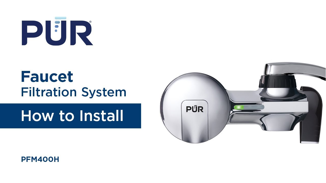 How to Install your PUR Water Faucet Filtration System - YouTube