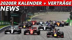 Offizieller Kalender für 2020 + Verträge | F1 News | Maik's F1 Channel