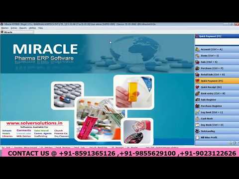 HOW TO PAY , RECEIVE MONEY BY CASH AND BANK ENTRY IN PHARMA SOFTWARE IN ENGLISH