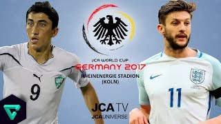 Uzbekistan vs. England | Group B | 2017 JCA World Cup Germany | ⚽ PES 2017 ⚽