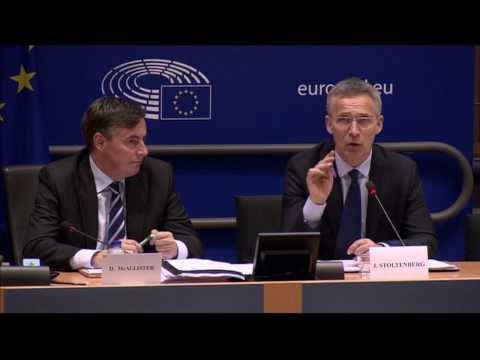NATO w/CC: 5-4-17. Security & Defence. Stoltenberg Speaks At European Parliament.