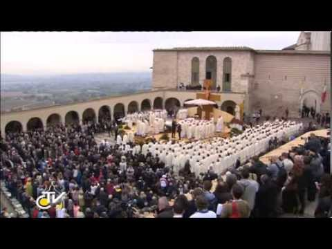 Prayer on the Tomb of St. Francis of Assisi and Holy Mass