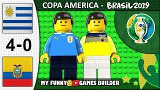 Uruguay vs Ecuador 4-0 • Copa America 2019 Brasil 16/06/2019 All Goals Highlights Lego Football Film
