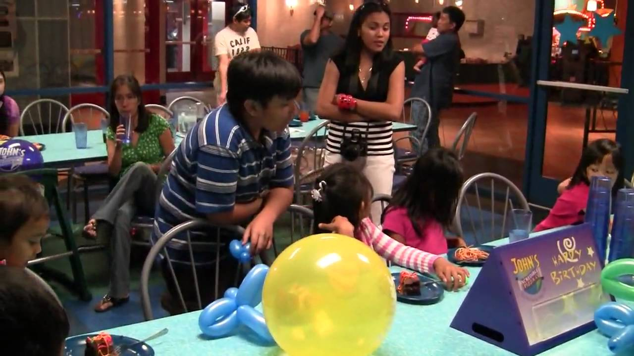 part 3 Ashley's 7th birthday party at john incredible pizza - YouTube