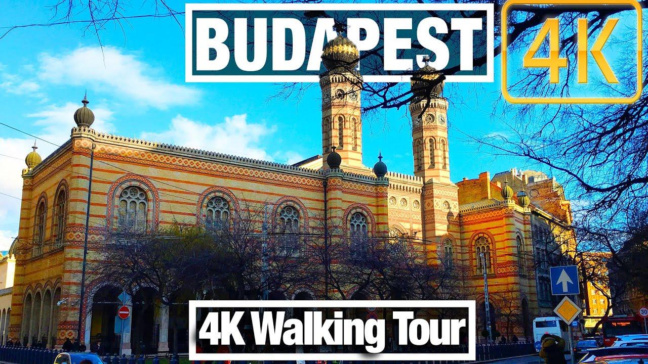 4K City Walks: Budapest, Jewish Quarter - Virtual Walk Treadmill Exercise Video and City Guide