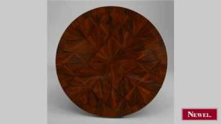 Antique Pair Of French Art Deco Rosewood Round End Tables