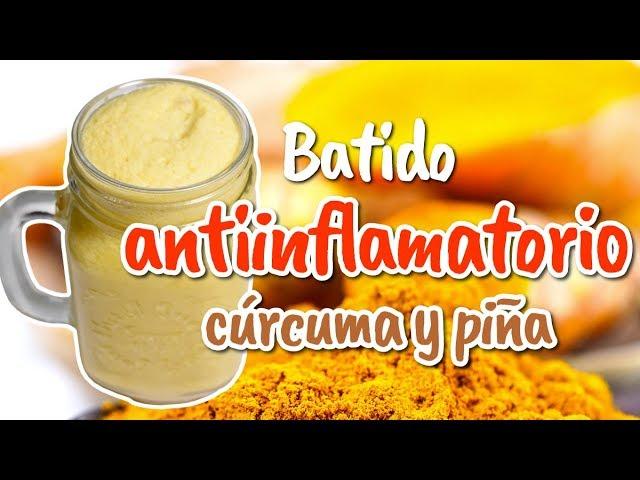 Batido antiinflamatorio con cúrcuma y piña