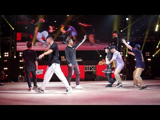 Break The Floor ASIA 2017 | TOP 16 | SAIGON FLAVE TEAM (VIETNAM) vs FOUND NATION (JAPAN)
