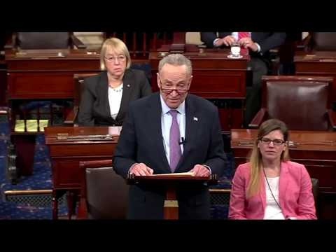 Chuck Schumer Reacts to Trump's 'Bigger Nuclear Button' Tweet