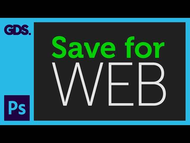 Save for web in Adobe Photoshop Ep33/33 [Adobe Photoshop for Beginners]
