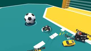 Football match with cars - soccer match