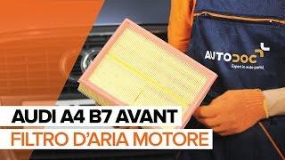 Come sostituire filtro d'aria motore su AUDI A4 B7 AVANT [TUTORIAL]