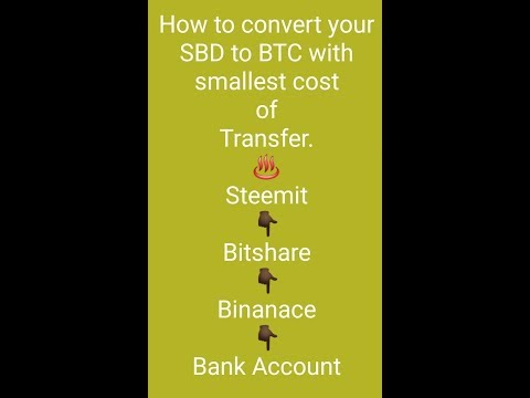 How to open Bitshare account, Binance account and how to transfer SBD to BTC