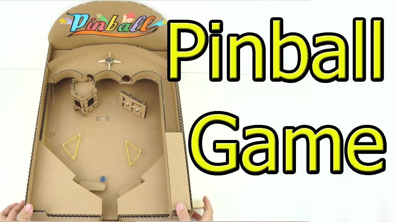Cómo Hacer Un Juego De Pinball O Flipper De Cartón En Casa Youtube