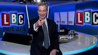 Nigel Farage Presenting LBC Drive: North Korea 4pm-7pm Part 2/3 - 30th August 2017