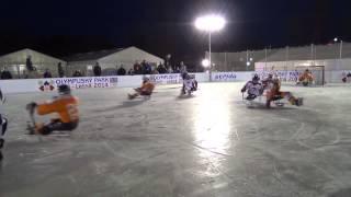 Sledge hokej exhibice   Olympijský  park Letná 10 2 2014 Luky