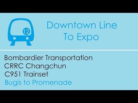 ⁴ᴷ [Secret Spot] SBST DTL Train Ride [Bugis → Promenade] - Bombardier C951 Trainset