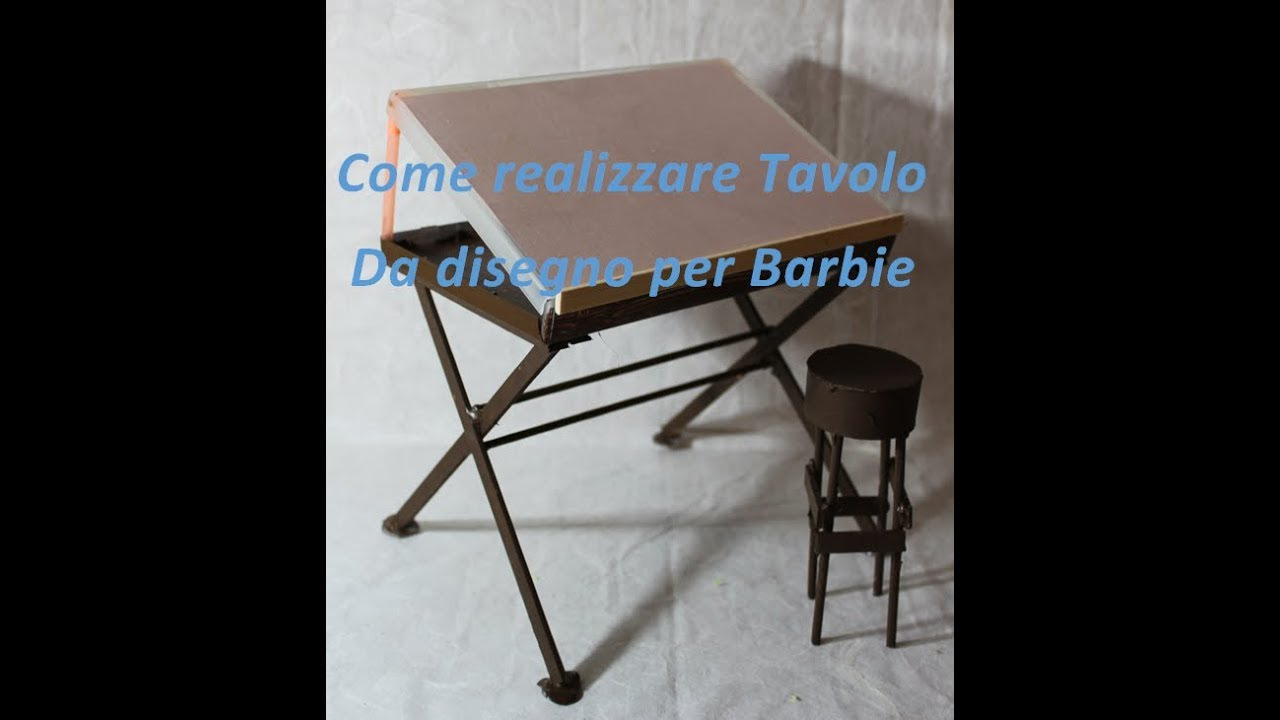 Scrivania Da Disegno : Diy come fare tavolo da disegno per barbie youtube