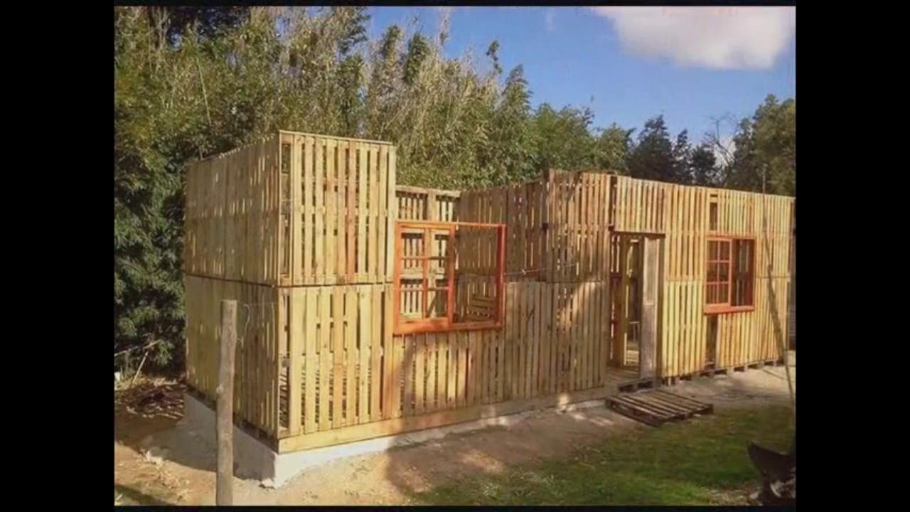 Casa de pallet completa decorarmoveiscaseiros tutoriais - Casas con palets de madera ...