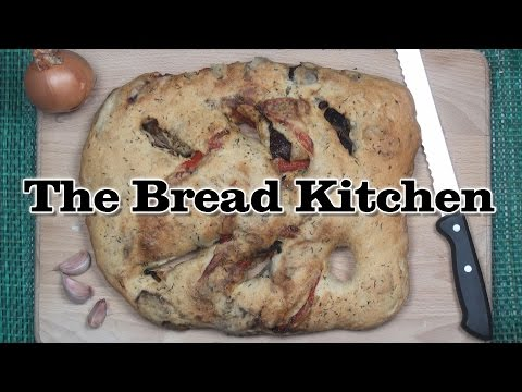 Fougasse With Roasted Vegetables Recipe in The Bread Kitchen