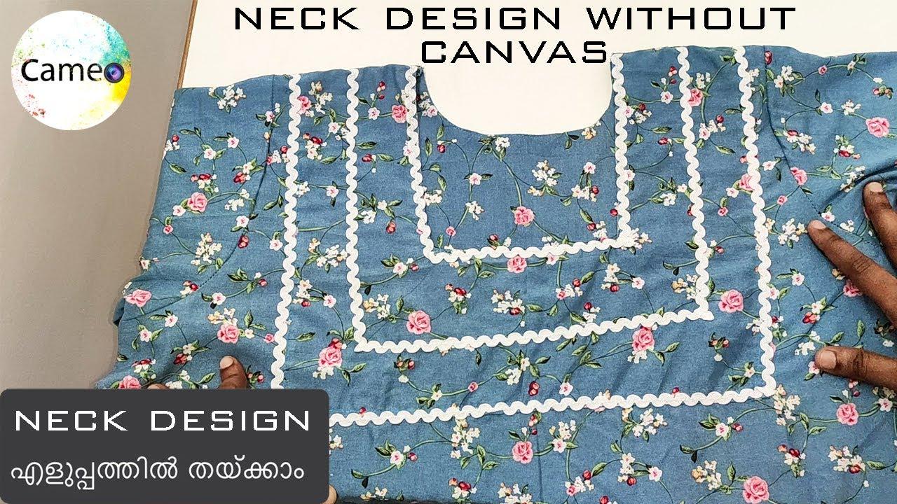 Neck design without canvas