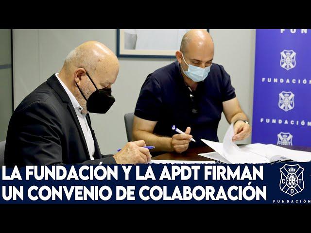 #FundaciónCDT | La Fundación y la APDT firman un convenio de colaboración
