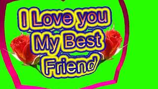 Happy Friendship Day Green Screen Effects - Happy Friendship Day speciel 3D Animated Video No 75