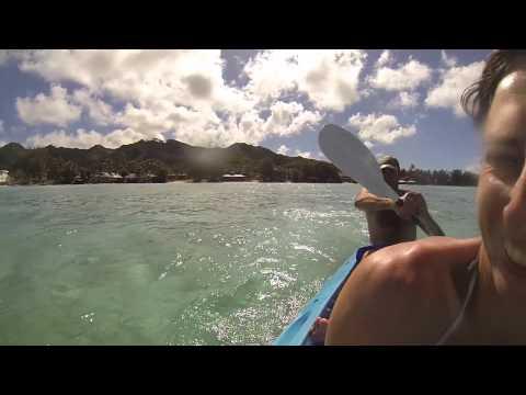 kayaking at Muri Lagoon, Rarotonga