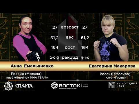 Анна Емельяненко (Астрахань) Vs Екатерина Макарова (Москва)