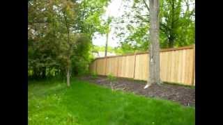Framed Batten Board Privacy Fence Edina Minnesota